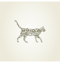 Cat business vector image