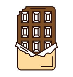 chocolate bar isolated icon vector image