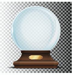 christmas empty snow globe vector image