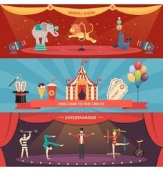 Circus Performance Horizontal Banners vector image