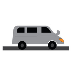 clipart a white long passenger car with vector image