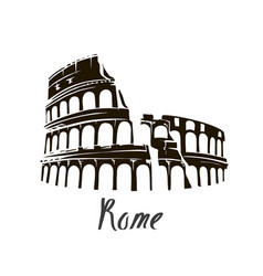 colosseum in italy vector image