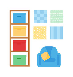 comfortable cozy baby room decor children bedroom vector image