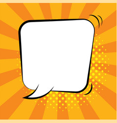 Comic speech bubbles on colorful background vector