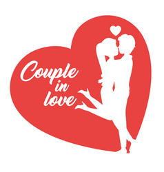 Couple in love design vector