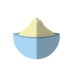 Cream cup spa product isolated icon vector