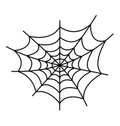 danger spider web icon outline style vector image