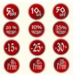 Discount stickers set vector image