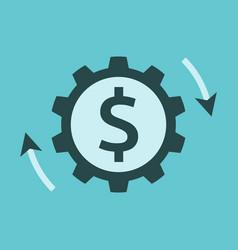 dollar cog money working vector image