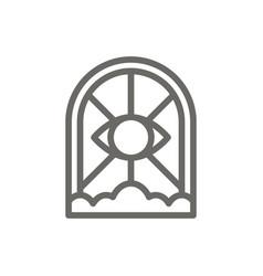 gate eye cloud symbol icon spiritual concept vector image
