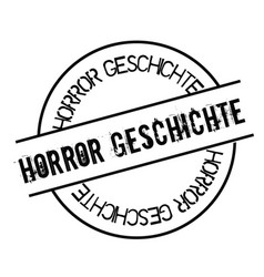 horror story stamp in german vector image