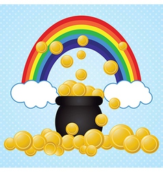 I found the pot of gold coinsst patricks day vector