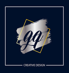 initial letter gq logo template design vector image