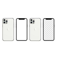Iphone 13 pro max silver color realistic vector