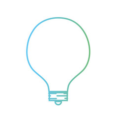 line energy bulb to illuminate places vector image