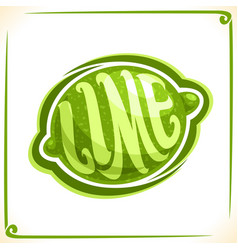 Logo for green lime vector