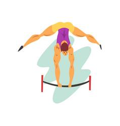 male athlete on balance beam professional vector image