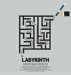 Maze Labyrinth Graphic vector