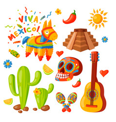 mexico icons traditional vector image