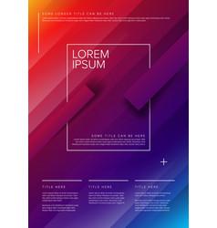modern art poster template vector image