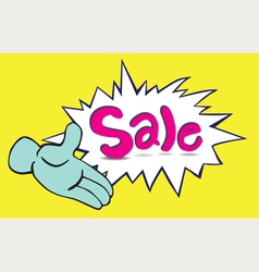 One hand sale vector