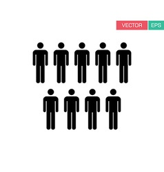 People icon - population team group icon vector
