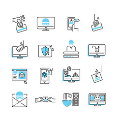 Phishing icon collection set vector