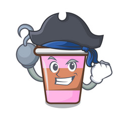 Pirate coffee cup character cartoon vector