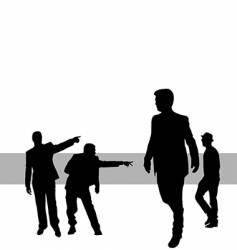 Posing people vector