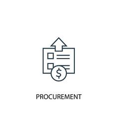procurement concept line icon simple element vector image