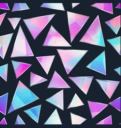 purple triangle seamless pattern vector image