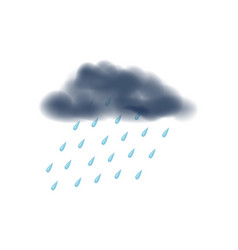 Rainy day isolated icon vector
