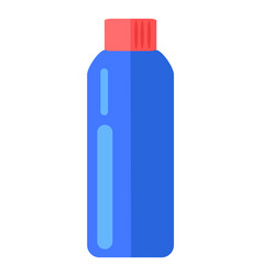 realistic blue bottle with red cap cosmetic vector image