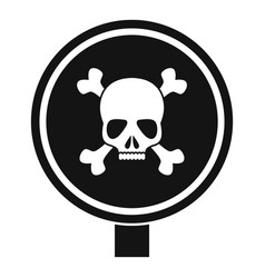 Round danger sing icon simple style vector
