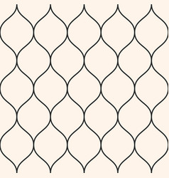 seamless pattern thin wavy lines vertical mesh vector image