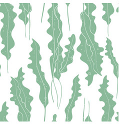 seaweed texture seamless pattern background vector image