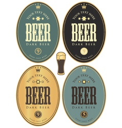 Set beer dark vector