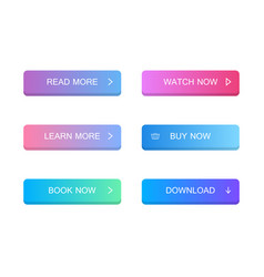 Set of modern material style buttons vector