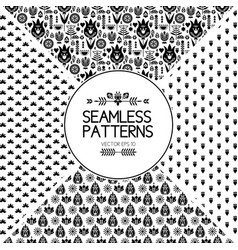 set of seamless pattern graphic elements texture vector image