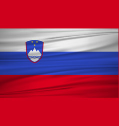 Slovenia flag flag of slovenia blowig in the vector