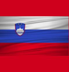 Slovenia flag flag slovenia blowig in the vector