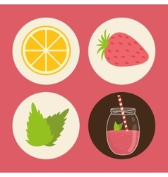 Smoothie icons design vector image
