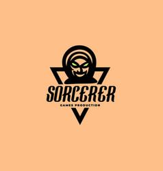 sorcerer gaming logo vector image