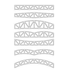 Steel metal trusses vector