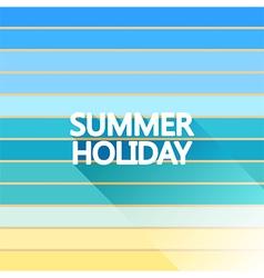 Summer holiday vintage on light sea vector image