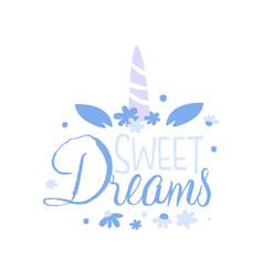 sweet dreams positive quote hand wriiten vector image