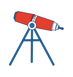 Telescope education and astronomy element spyglass vector