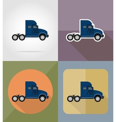 transport flat icons 13 vector image