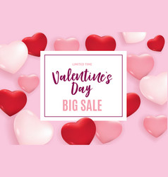 valentines day love and feelings background design vector image