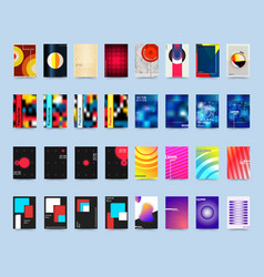 Various style design cover template set vector